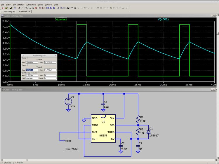 NE555 pulse generator
