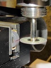 Slitting ferrite toroid - first pass