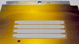 Floor brush strips - on platform