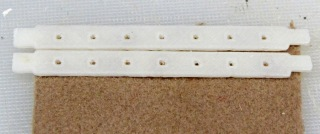 Floor brush strips - gluing fabric