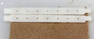 Floor brush strips - gluing fabric