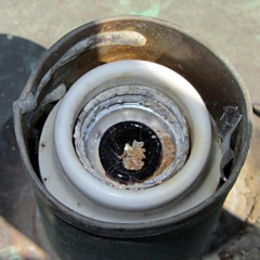 Corroded lamp socket