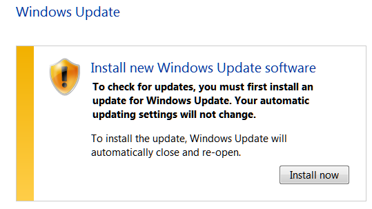 Windows 7 Update Update