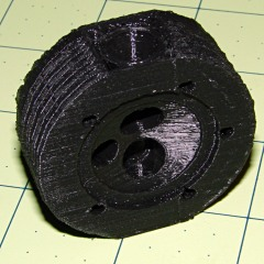 Radial engine cylinder head - bottom