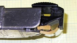 Stapler latch - before closing