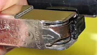 Stapler latch - in place
