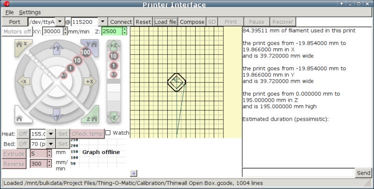 M2 Pronterface - screen shot