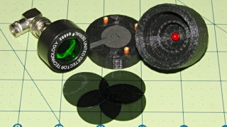 LED Photodiode test fixture - ND filter disks