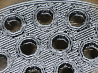 Strainer plate fill