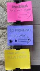 3D Printing This Way - signs on post