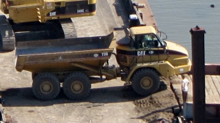 Poughkeepsie waterfront brownfield reclamation - truck detail
