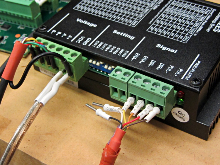 how to connect stepper motor to driver