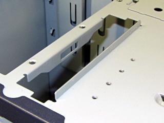 Dell PC case - diskette drive slot tab