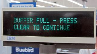 Walmart cash register - buffer full message