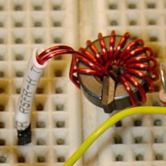 FT37-43 with 15 turns 24 AWG - Hall sensor