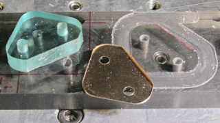 Corner Clip Fixture - rounded-over milled edges