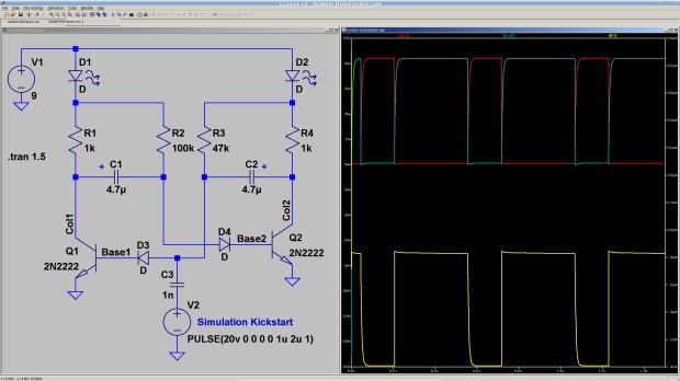 Astable Multivibrator - simulation
