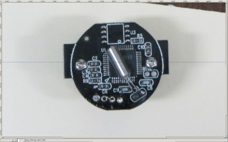 Camera PCB - horizontal guide - scaled