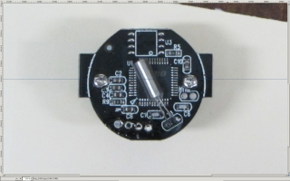 Camera PCB - rotated to match horizontal guide - scaled