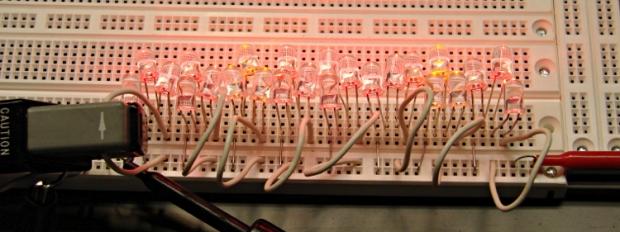 Series-parallel LED test fixture