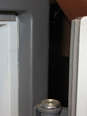 Basement Safe - Foam door seal - hinge side