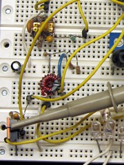 Hall Effect LED Current Control - breadboard detail