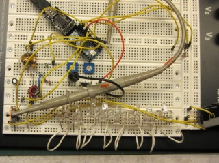 Hall Effect LED Current Control - breadboard overview