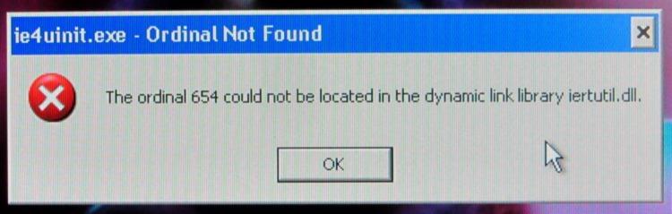 Windows Error - Ordinal Not Found