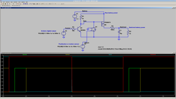 P-channel MOSFET Power Switch | The Smell of Molten Projects in the