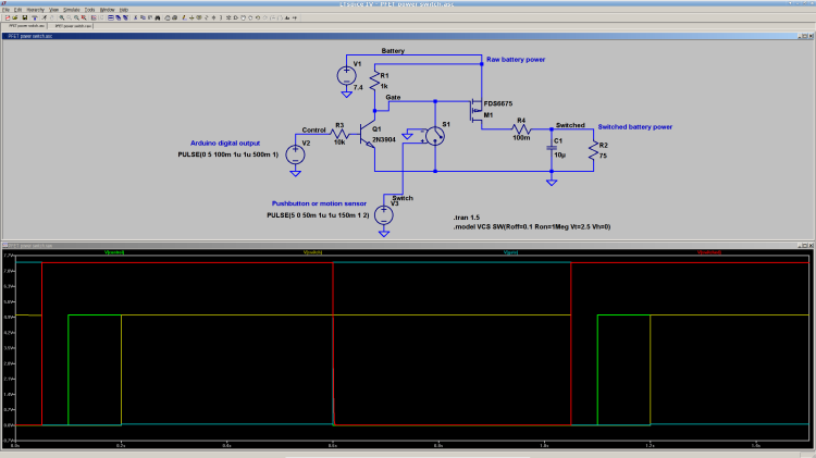P-MOSFET power switch