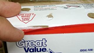 Walmart plastic wrap - plastic cutter