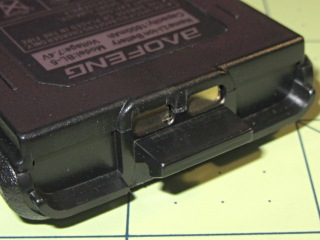 Baofeng UV-5RE radio - battery contact pads