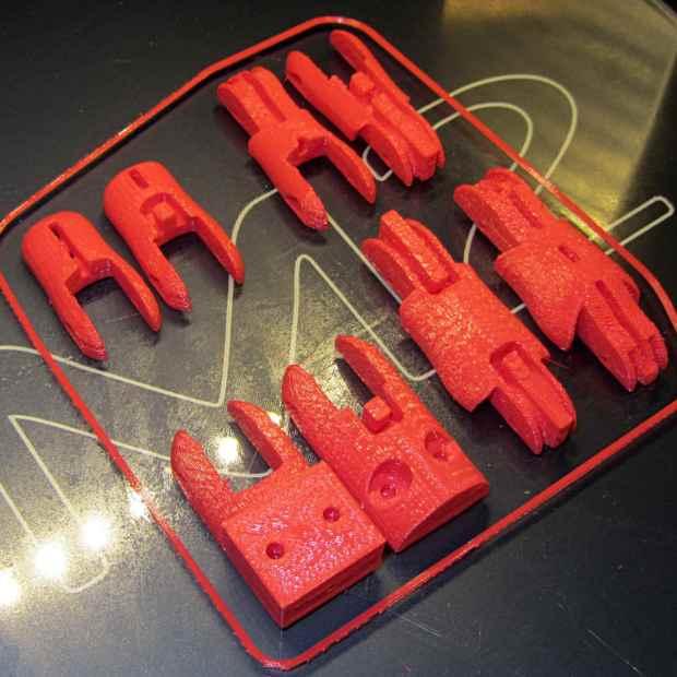 Anthromod Finger - parts on M2 platform