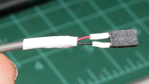 Improvised 2-pin header socket