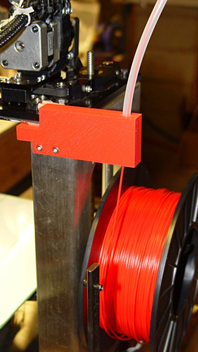 M2 Larger Filament Guide - rear view