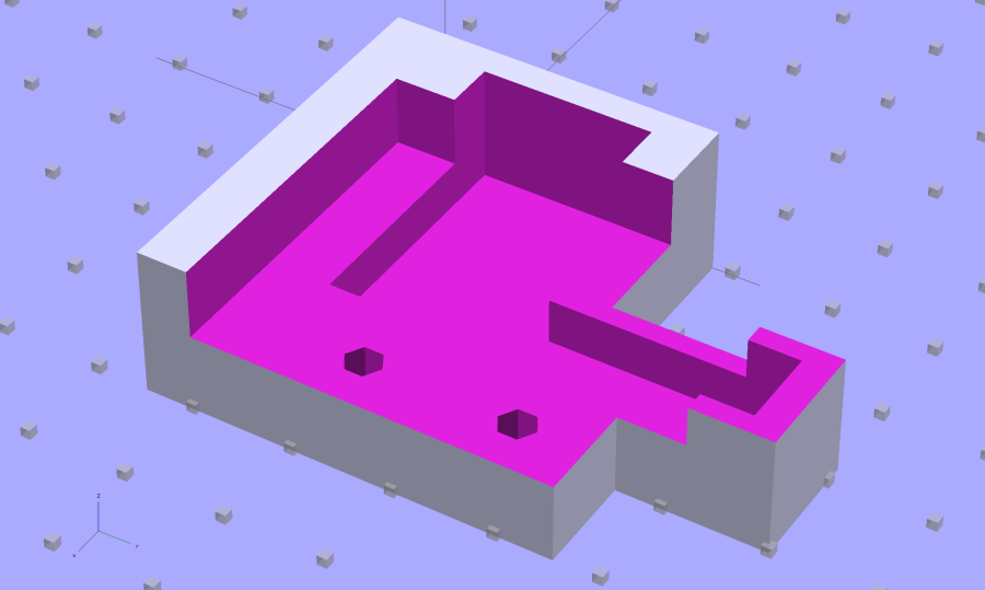 M2 Wire Cover - OpenSCAD solid model