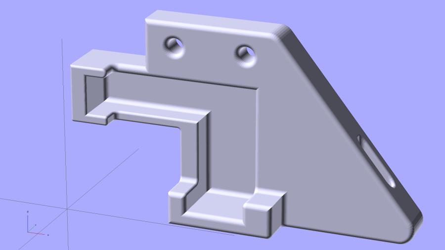 Stock M2 Wire Cover Filament Guide - solid model