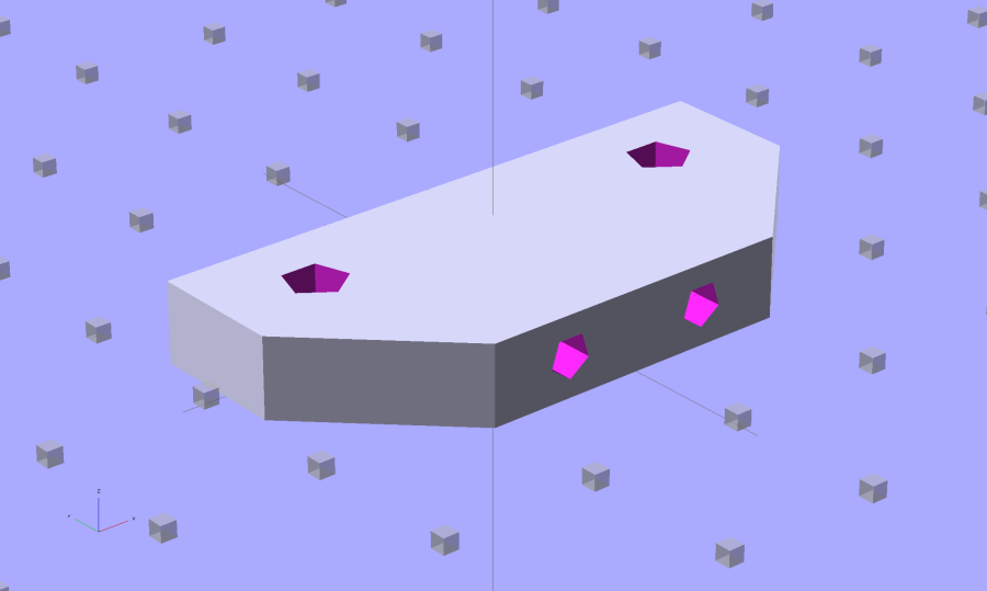 Z-min Front Mount Switch Block - chamfer - solid model