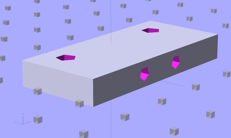 Z-min Front Mount Switch Block - solid model