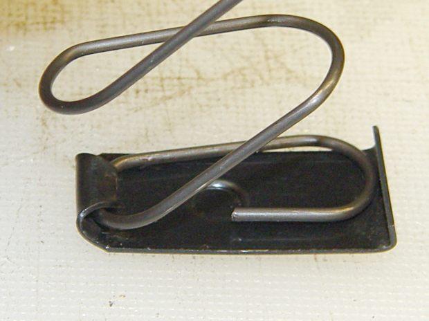 Browning Hi-Power magazine - spring inside base plate