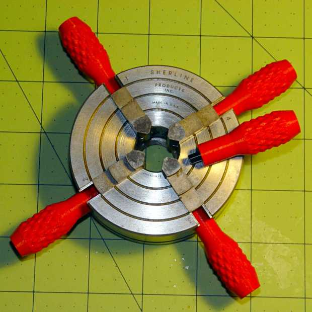 Sherline Knobs - in 4 jaw chuck