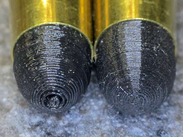 Dummy 9 mm Luger bullets - 0.1 mm layer - nose