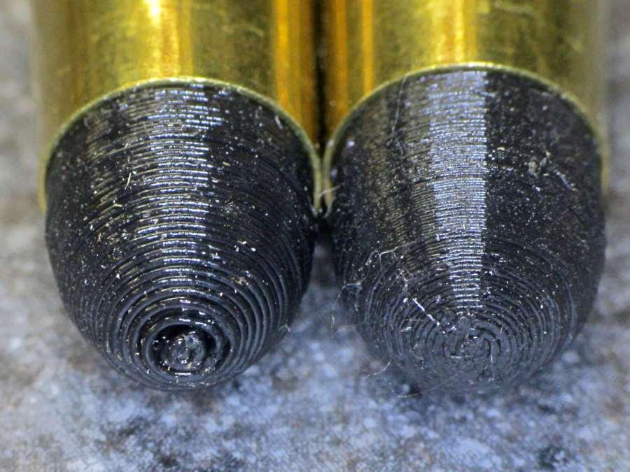 Dummy 9 mm Luger bullets - 0.1 mm layer - nose