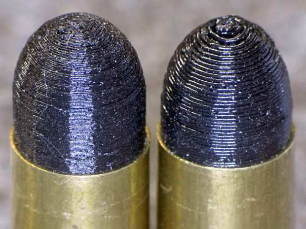 Dummy 9 mm Luger bullets - 0.1 mm layer - side