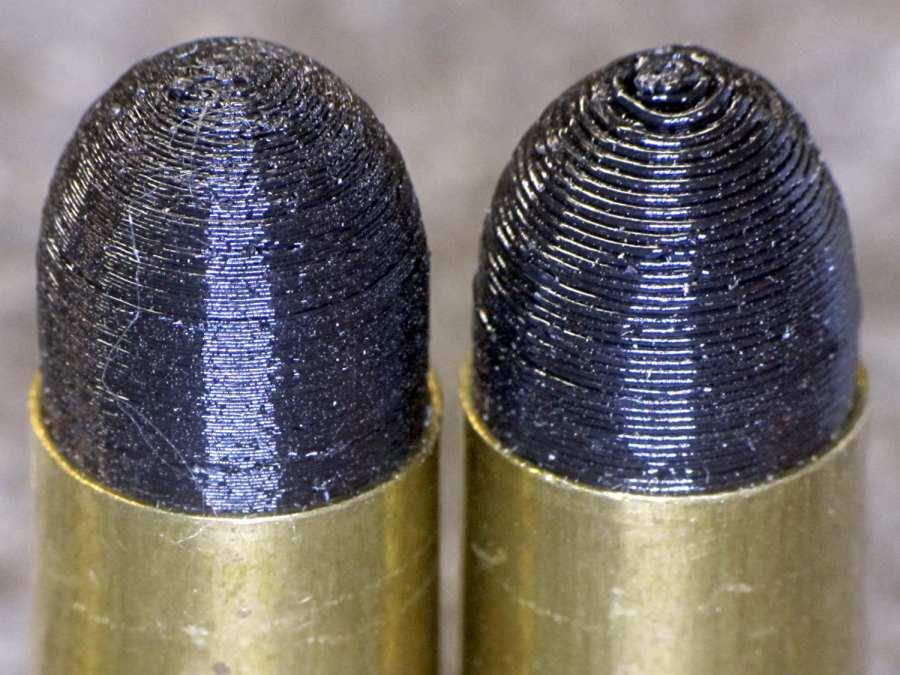 Dummy 9 mm Luger bullets - 0.1 mm layer - side