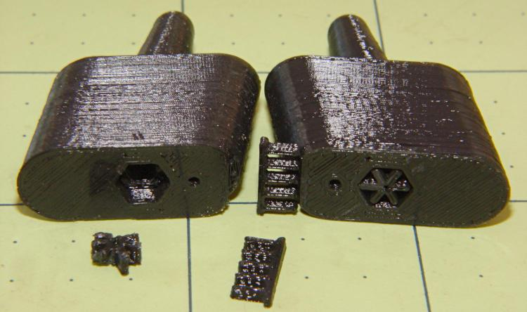 Browning Hi-Power magazine - block support detail