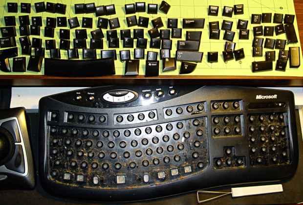 Microsoft Comfort Curve Keyboard - crud buildup