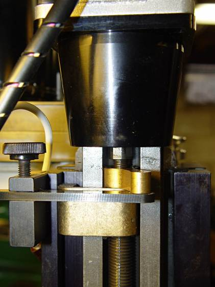 Sherline Z-axis leadscrew nut - top end