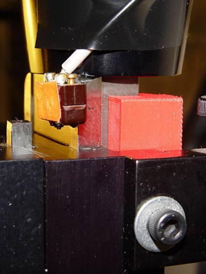 Sherline Z-axis Overrun Block - side view