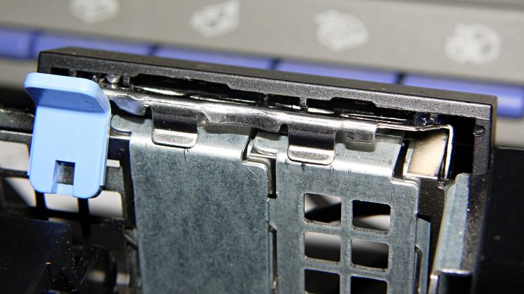 Optiplex 980 PCI Clamp Cover - in place